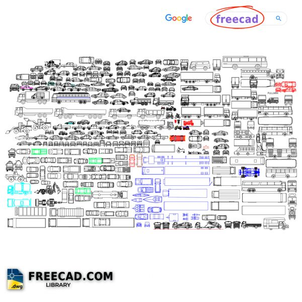 Vehicle Blocks 2D DWG CAD Blocks Free