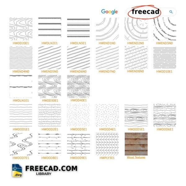 25+ AutoCAD Wood Hatch Patterns Free download