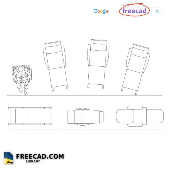 Chair For Beach DWG CAD Files