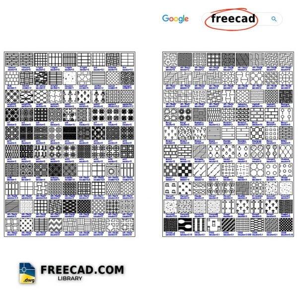 Free AutoCAD hatch patterns