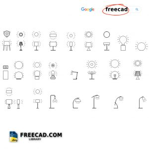 Table Lamps DWG Drawing free in AutoCAD